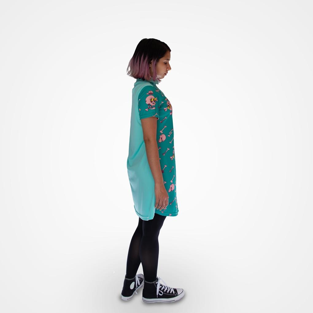 Vestido camisero Old school (lateral)